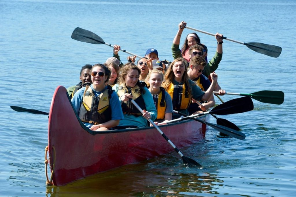 Diabetes Campers Canoeing