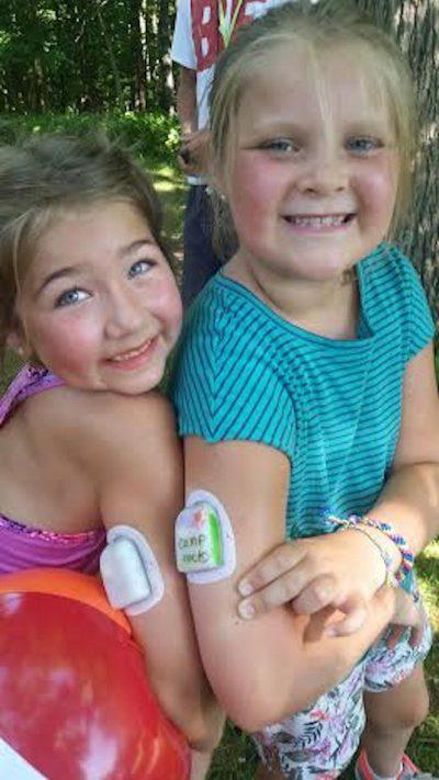 Two Girls Enjoying Diabetes Camp